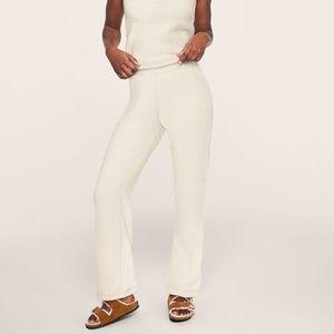 Pink Victoria's Secret Cozy Sleep Pant White